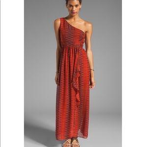 Alice+Olivia Pamela One Shoulder Sunset Heat Dress